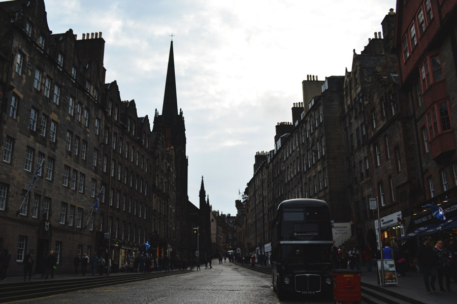 The history and age of Edinburgh can be easily seen along the city streets.