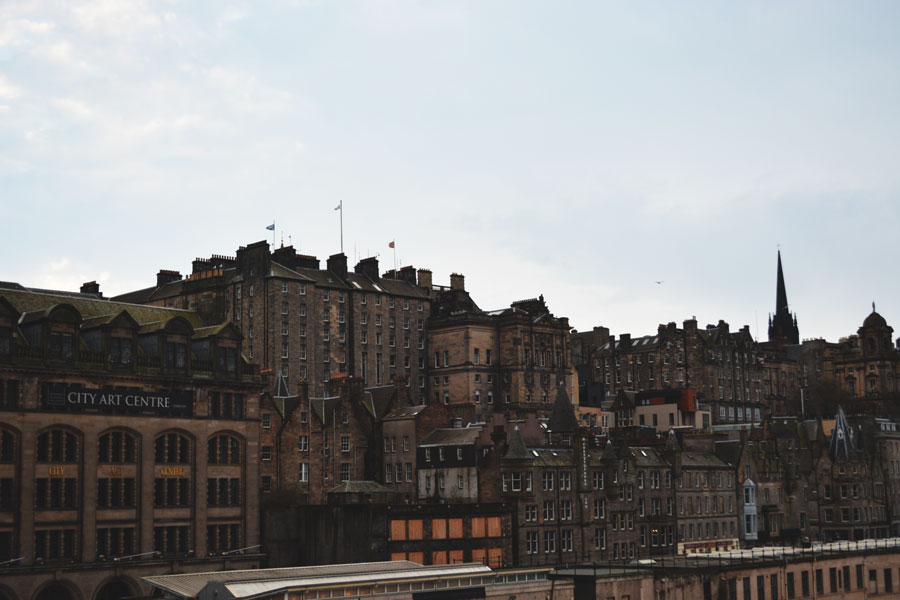 The historic buildings throughout Edinburgh remind you of the history of the city.