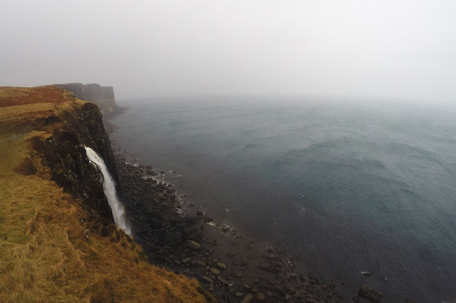 Visiting Kilt Rock and Mealt Falls while driving along the Isle of Skye.