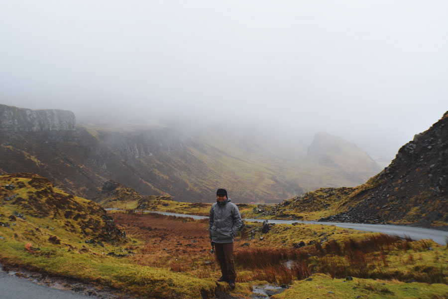 Kevin Banogon poses in the Quiraing during a drive through the Isle of Skye.