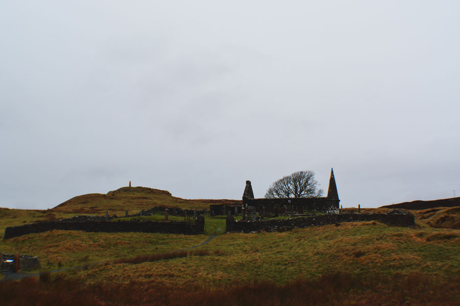 A small cemetery on the Isle of Skye off the road around the island.