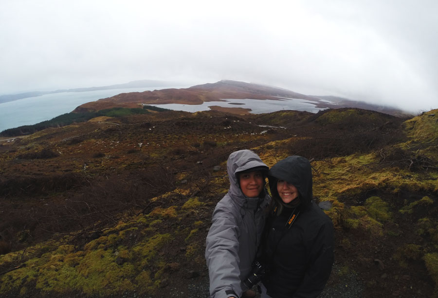 Kevin Banogon and Meredith Lambert Banogon enjoy their honeymoon in Scotland as they drive around the Isle of Skye.