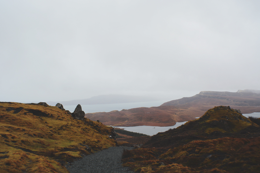 The beautiful view of Scotland along the hike to the Old Man of Storr.
