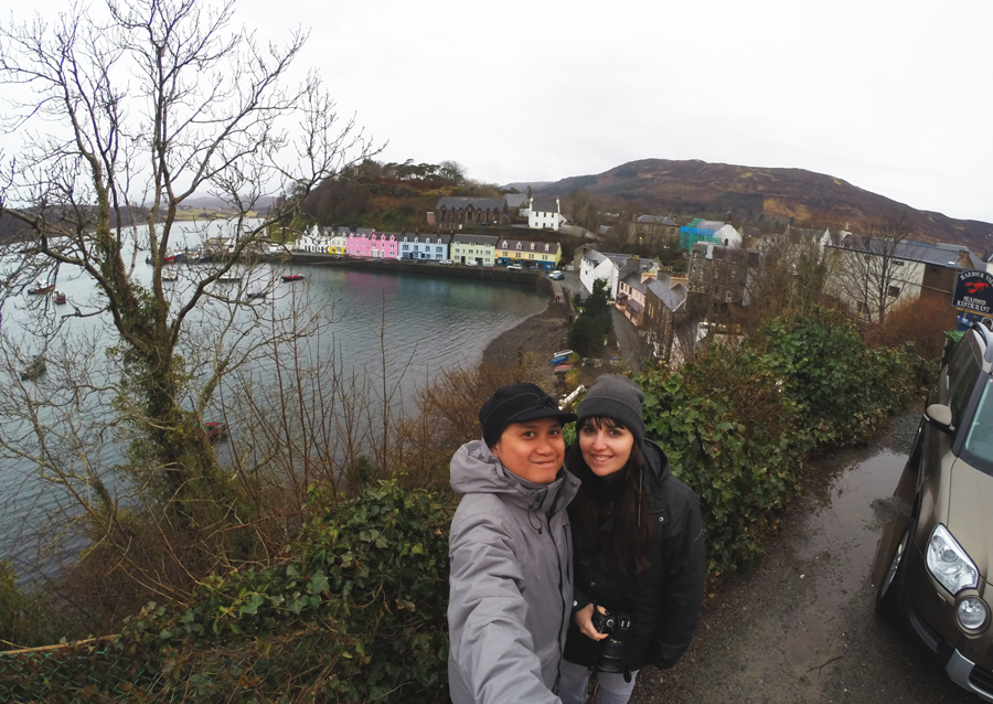 Kevin Banogon and Meredith Lambert Banogon enjoy their final day in Portree on the Isle of Skye during their honeymoon.