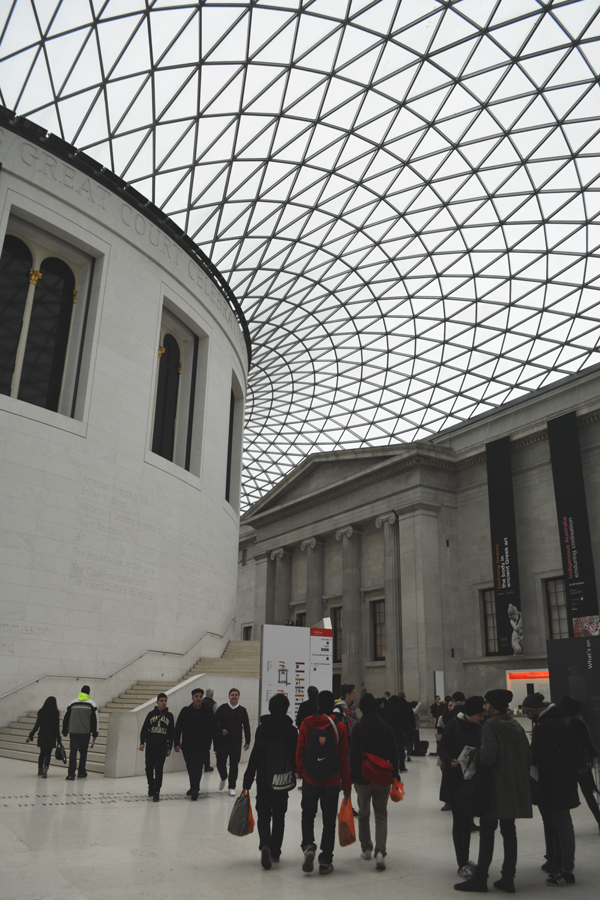 The interior of the courtyard of the British Museum designed by Norman Foster.