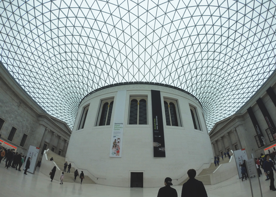 The interior courtyard of the British Museum designed by Norman Foster.
