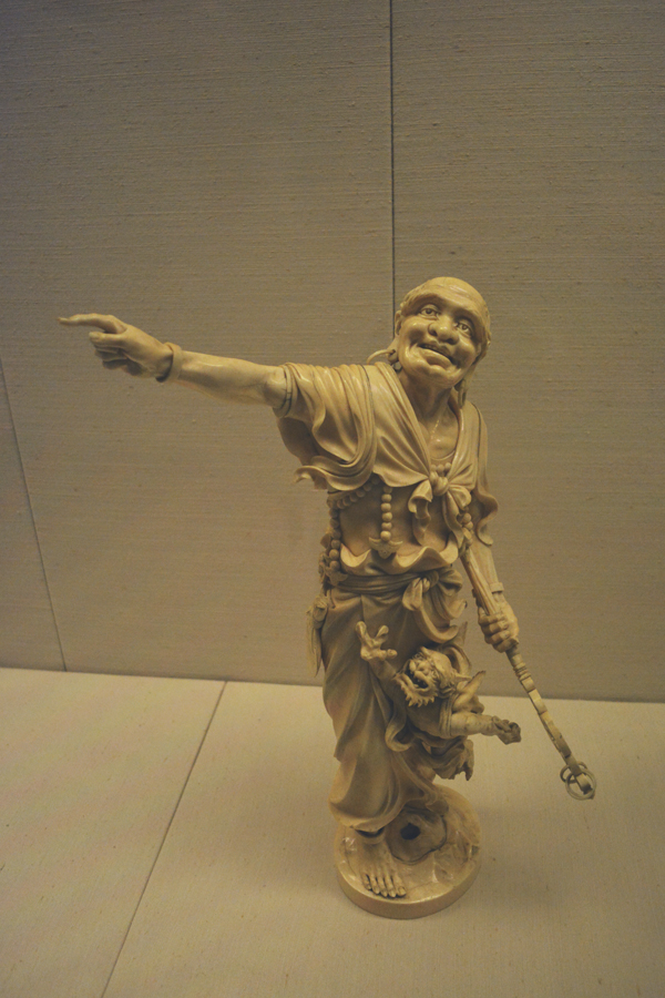 A close up of a piece on display at the British Museum in their extensive Asian collection.