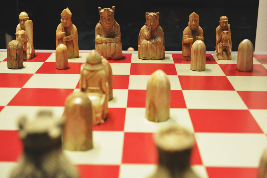 The Lewis Chessmen at the British Museum make up the oldest chess set.