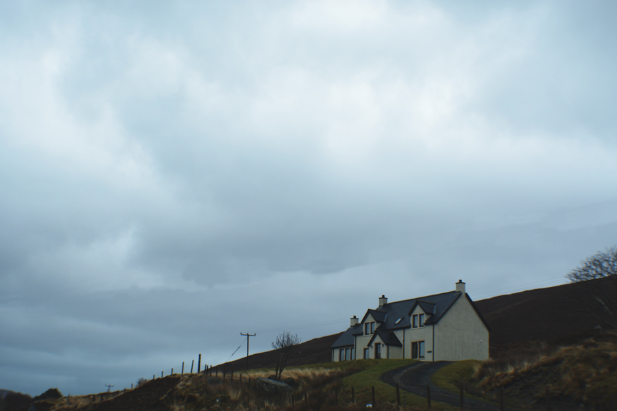 A beautiful lone house on the road from the Isle of Skye to Edinburgh, Scotland.