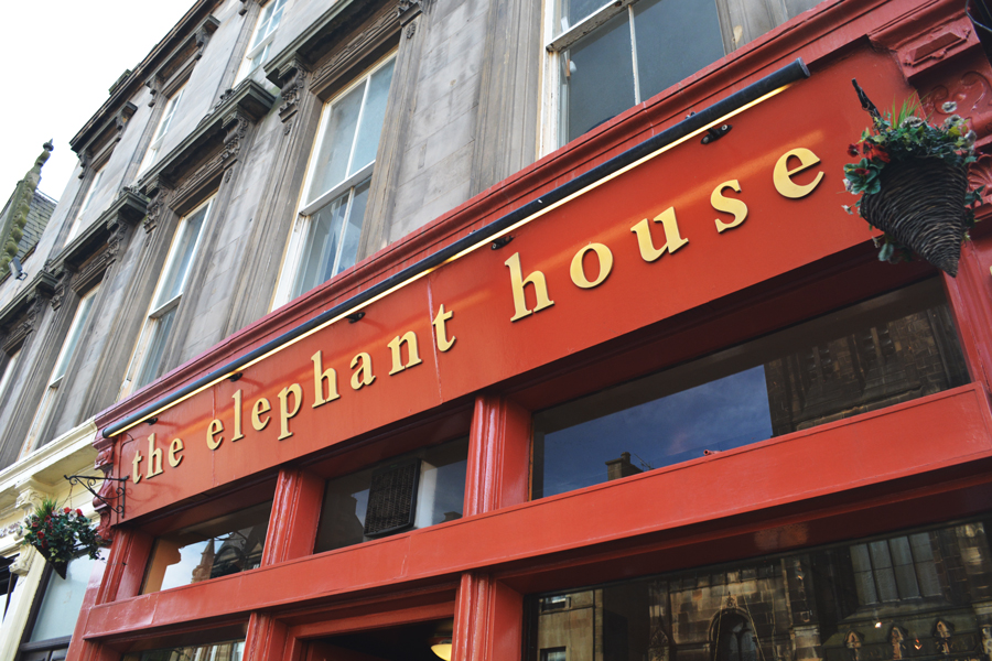The Elephant House in Edinburgh has gained international fame as the birthplace of Harry Potter.