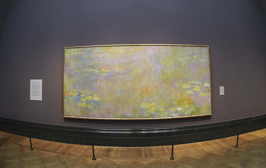 Claude Monet's Water Lilies at The National Gallery in London, England.