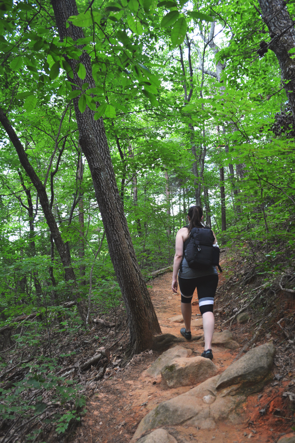 Meredith Lambert Banogon hikes up the Appalachian Approach Trail within Amicalola Falls State Park.