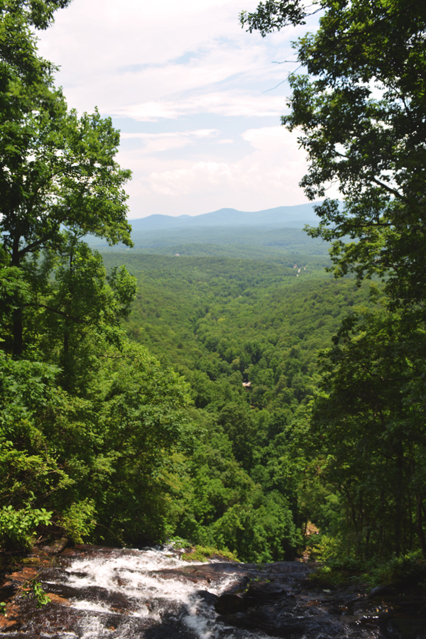 The view from the top of Amicalola Falls, the tallest waterfall southeast of the Mississippi River.