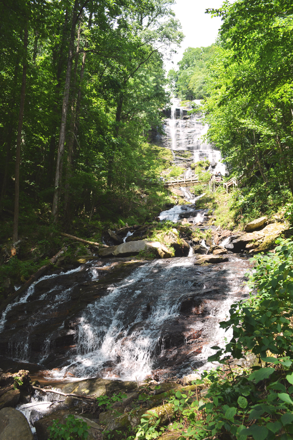 The full height of Amicalola Falls in northern Georgia is a sight to behold and provides a break from the city life of Atlanta.