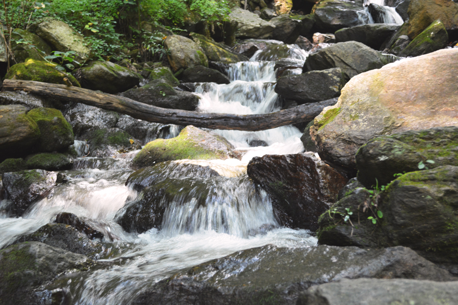 The lower falls at Amicalola Falls State Park are rocky and refreshing.