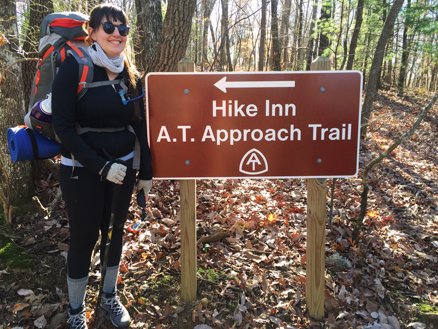 Meredith Lambert Banogon embarks on a backcountry hiking trip on the AT Approach Trail to Springer Mountain with her husband and friend.