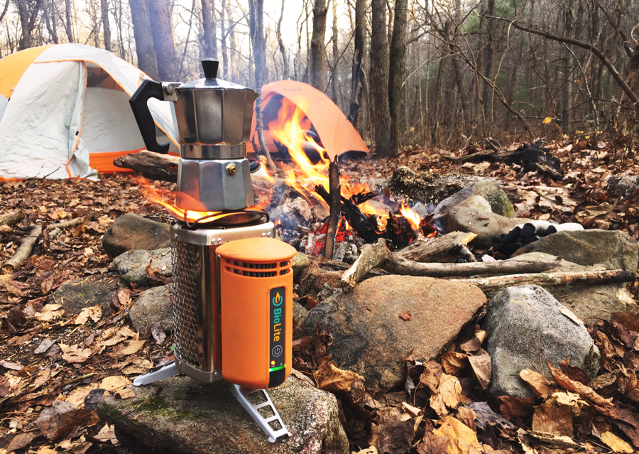 Backcountry camping on Springer Mountain is made even easier with the BioLite Stove.