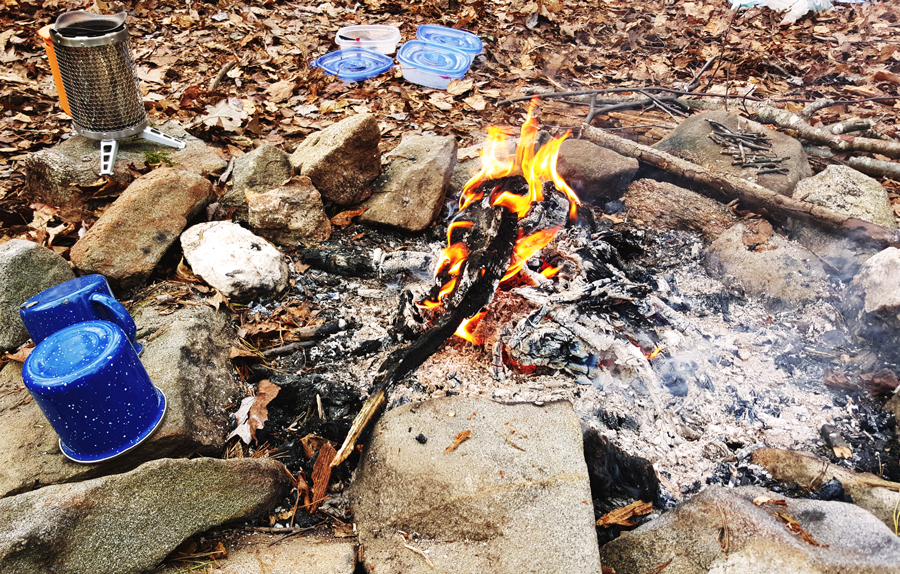 Creating a fire in the backcountry can bring a relief from the cold of outdoor adventures.