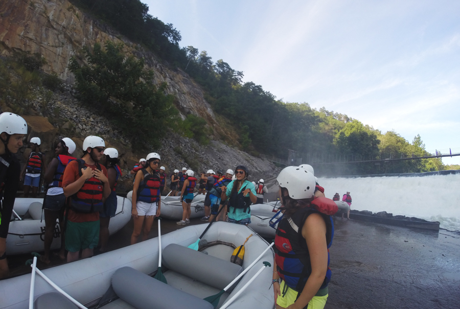 The High Country Adventures Raft Guides are trained to keep all guests safe during their whitewater rafting experience down the Ocoee River.