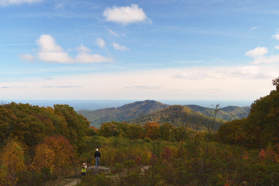 The Blue Ridge Mountains that make up one side of Shenandoah National Park.