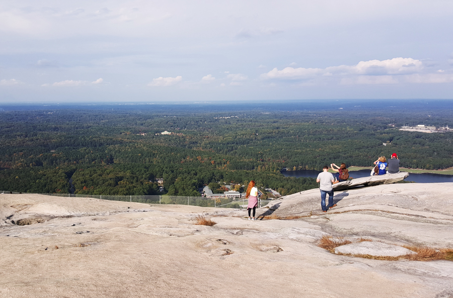 The view of Atlanta from the top of Stone Mountain, a granite mountain on the edge of the city.