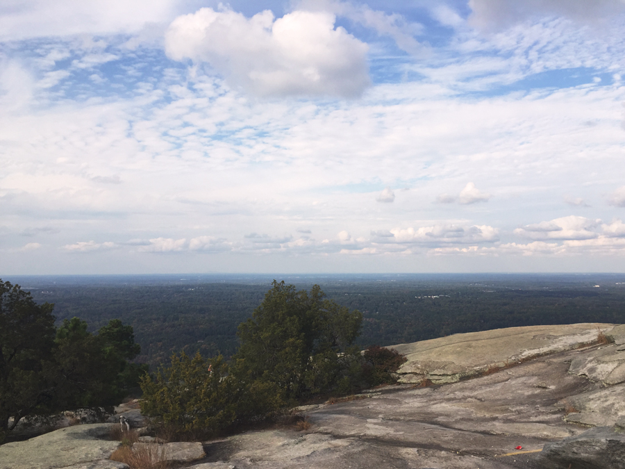A view from the top of Stone Mountain of the city of Atlanta below.