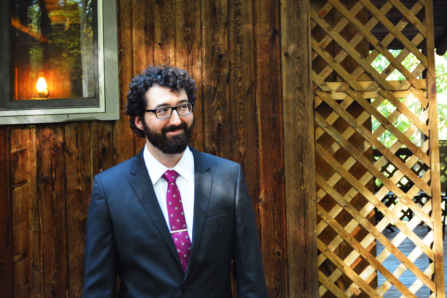Alexander Glass makes a handsome husband as he awaits the start of his Virginia wedding at Montfair Resort Farm.