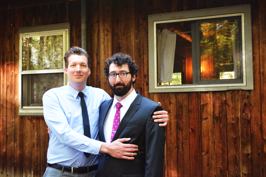 Kyle Jahn and Alexander Glass embrace their years of friendship before Alex's wedding.