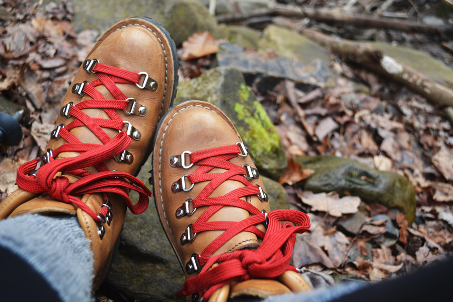 Meredith Lambert Banogon breaks in her new Danner boats during her anniversary trip to Cloudland Canyon.