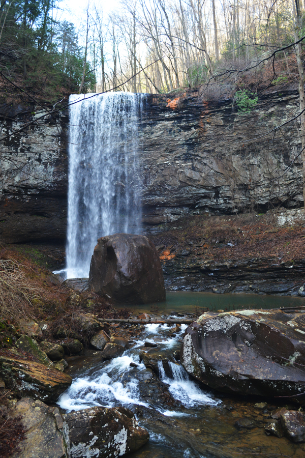 Hemlock Falls is the second waterfall encountered on the Waterfall trail at Cloudland Canyon.