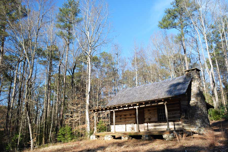 The Wood Family Cabin on the grounds of the Atlanta History Center in Buckhead.